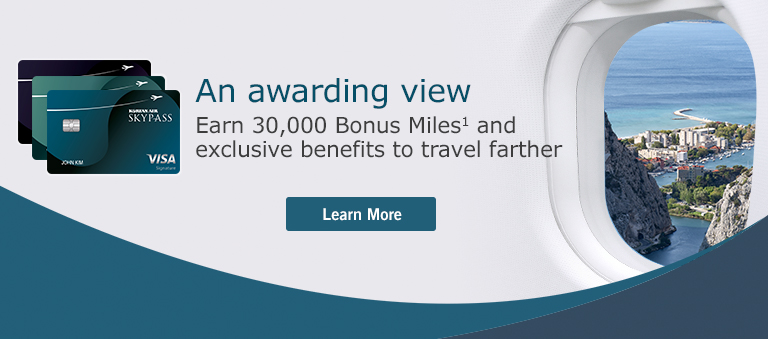 Earn 30,000 Bonus Miles and enjoy exclusive travel benefits! Click for offer details.