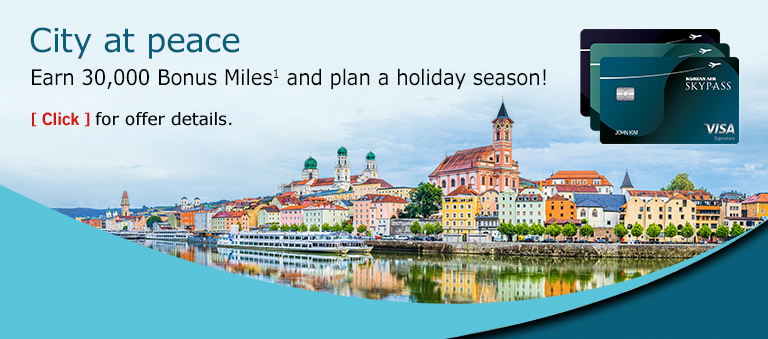 Autumn's path: travel the world in color. Earn 30,000 Bonus Miles towards Premium Travel! Click for offer details.