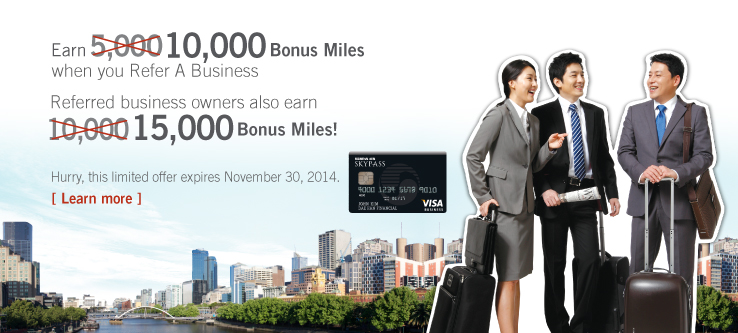 Earn 10,000 Bonus Miles when you Refer a Business