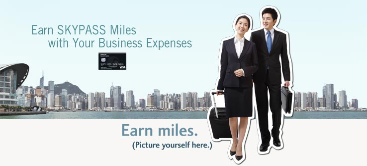 Earn Miles with your business expenses.  Learn more about the SKYPASS Visa Business Card.