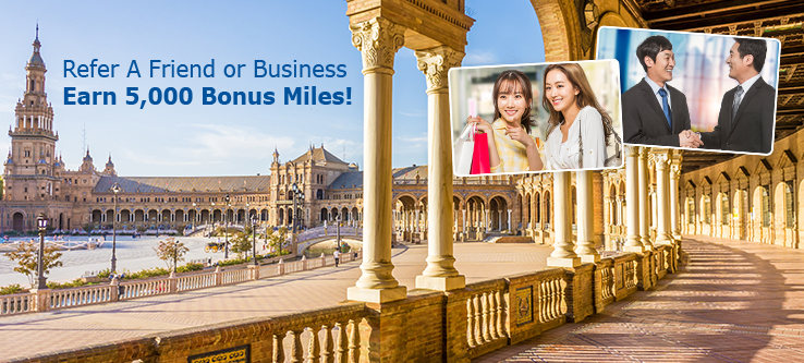 Refer a Friend of Business. Earn 5,000 Bonus Miles!