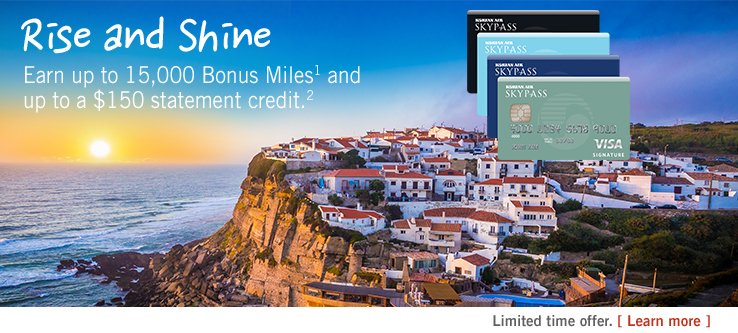 Earn up to 15,000 Bonus Miles and up to $150 statement credit. Learn more.