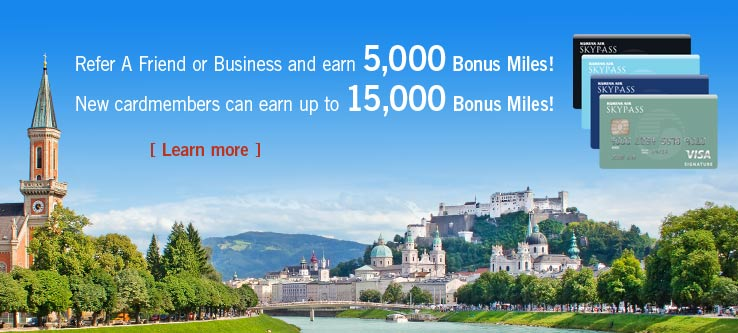 Refer A Friend and earn 5,000 Bonus Miles! Learn More.