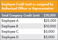 Employee Credit Limit